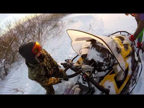 Погоня на снегоходе