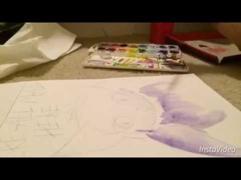 Abstract Gengar Watercolor time-lapse!