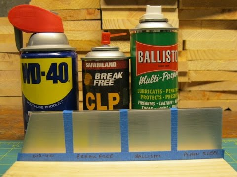 Salt Water Corrosion Comparison WD-40, Break Free CLP, and Ballistol