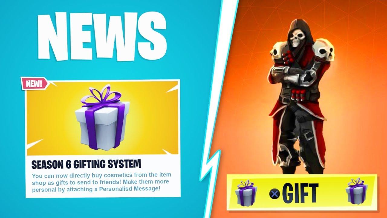 new how to gift skins in fortnite gifting system gameplay showcase fortnite gifting tutorial - fortnite gift skins season 7
