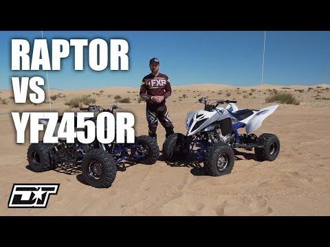2019 Yamaha Raptor 700R And 2019 Yamaha YFZ450R Walk Around & Comparison