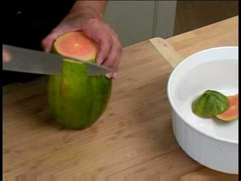 how to peel a papaya