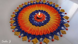 Very very innovative beautiful rangoli design