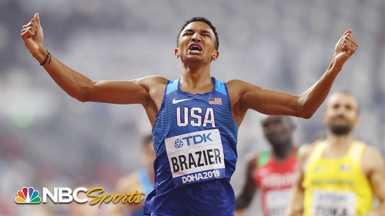 Download Donavan Brazier breaks American, world championship records in 800m victory | NBC Sports