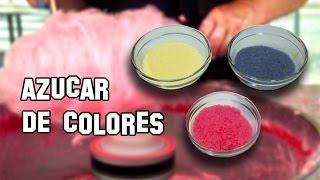 Recetas de Cocina | Como Hacer Azúcar de Colores para Algodón de Azúcar
