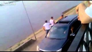 DRUNK DUDE MESSING WITH WRONG DRIVER GETS BEAT UP!!!! STREET FIGHT!!!