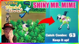SHINY MR. MIME CATCH REACTION in Pokemon Let's Go Pikachu and Eevee!
