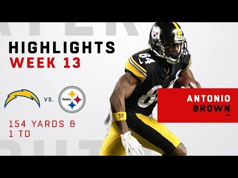 Antonio Brown's Big Night w/ 154 Yards & 1 TD vs. LAC