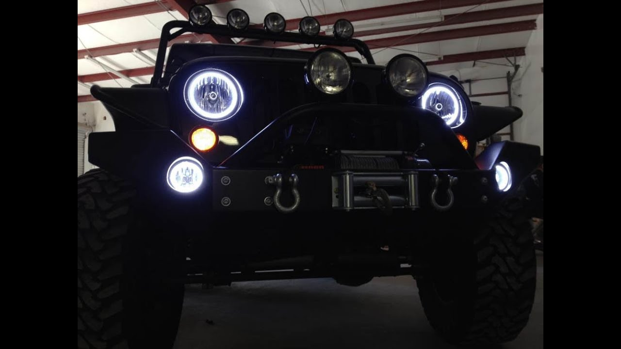 ijdmtoy led halo rings drl fog lights wiring demo [ 1280 x 720 Pixel ]