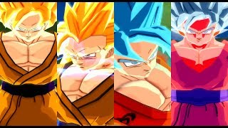 Goku all transformations base form - ssj blue kaioken x10 | dbz bt3 mod
