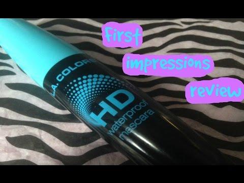 d4b86e94e1f First Impressions Review: LA Colors HD Waterproof Mascara - YouTube