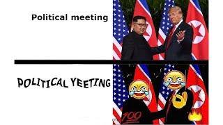 Trump and Kim Jong-Un funny memes