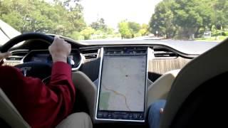 Tesla Model S test drive - Palo Alto