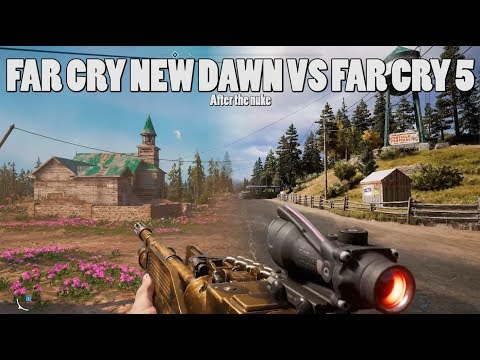 Far Cry New Dawn, Before and after the nuke - visual Comparison thumbnail