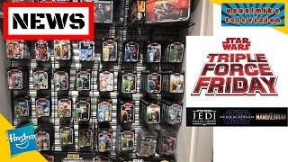 STAR WARS TRIPLE FORCE FRIDAY MERCH NEWS NEW FORBIDDEN PLANET FIGURES & UNBOXING