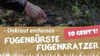 Unkraut Entfernen Mit Dem Fugenkratzer Und Der Fügenbürste   Garten-und-Freizeit.de