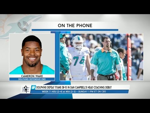 Dolphins DE Cameron Wake Talks Win Over The Titans & More - 10/20/15