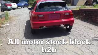 all motor stock bottom h22a h2b tuned on vp racing q16