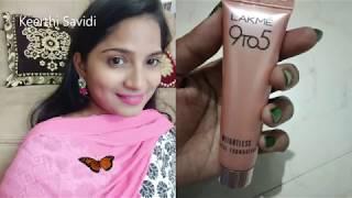Lakme 9to5 weightless mousse foundation/02/Beige Vanilla/2019/India/Telugu/English/review