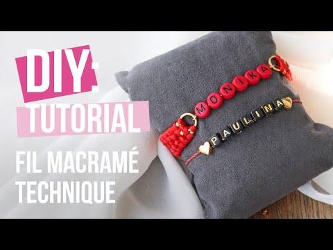 Bijoux à faire soi-même : Technique de macramé Crossed sennit ♡ DIY