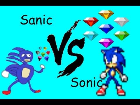 SONIC VS SANIC - YouTube