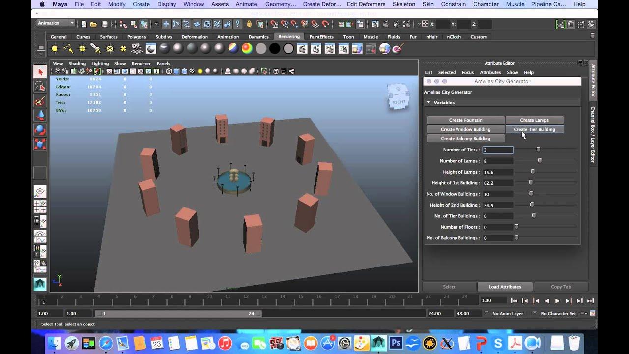 Python Procedural City Generator
