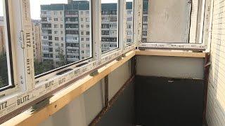 видео Остекление балконов c выносом своими руками