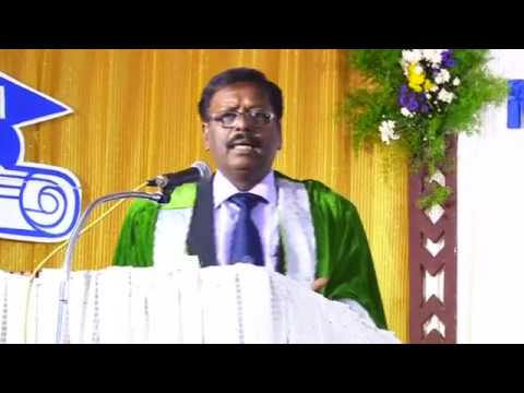 Mr  Prince addressing MBA graduates at Madurai School of Management