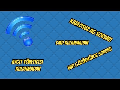 Kablosuz Ag Sorunu (Wifi Gözükmüyor)-(Cmd Acmadan Aygıt Yoneticisi Acmadan)