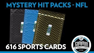 Mystery Hit Football Repack - 616 Sports Cards - Product Review