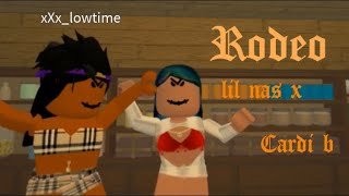 Lil Nas X, Cardi B - Rodeo [Official Roblox Music Video]