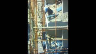カメラが捕らえた、中国のオカラ工事現場