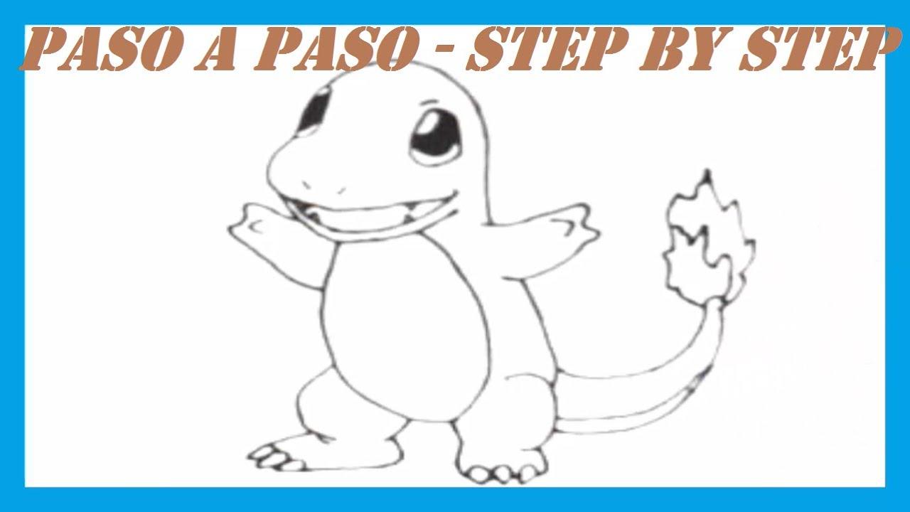 Como dibujar a Charmander Pokmon l How to draw Charmander Pokemon