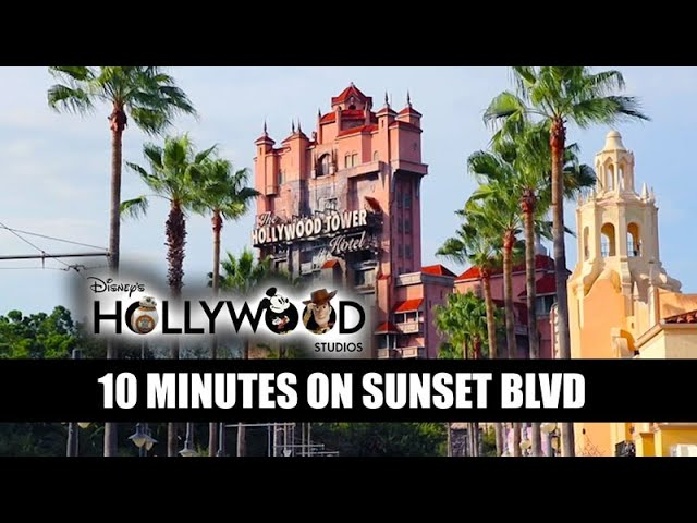 Disney's Hollywood Studios 10 Minutes on Sunset Blvd 🎬Walt Disney World Music and Crowds