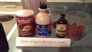 Vegan Carob Almond Sorbet - Gluten Free, Dairy Free Dessert