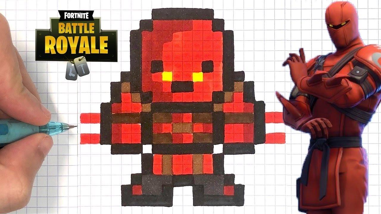 como dibujar hybrid skin fortnite pixel art youtube - como dibujar fortnite skins