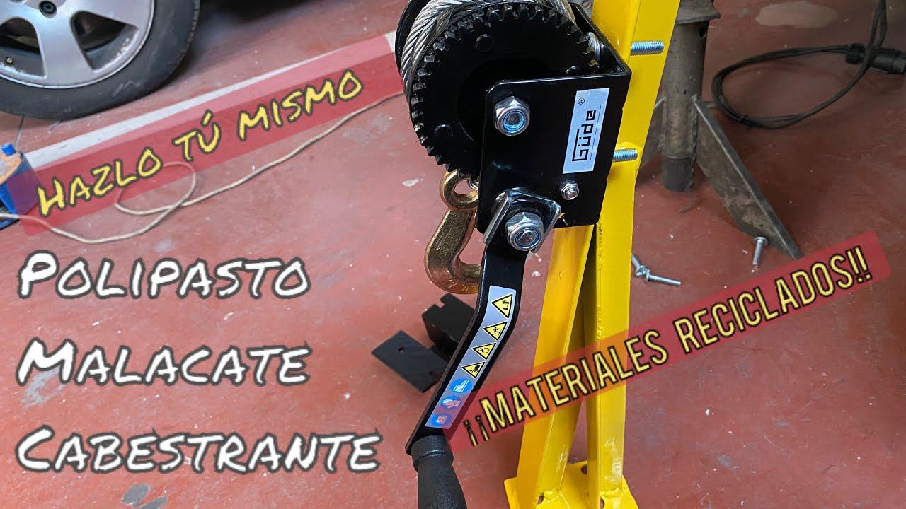 COMO HACER UNA PLUMAO CABESTRANTE CASERO RECICLANDO MATERIALES,SIN MORIR EN EL INTENTO PASO A PASO