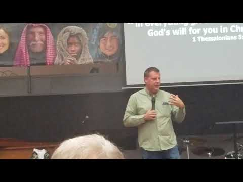 Pastor Jason Pickering opening Thanksgiving Dinner - November 15 ,2019
