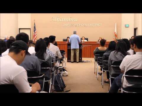 Alhambra Unfied School District board meeting June 30