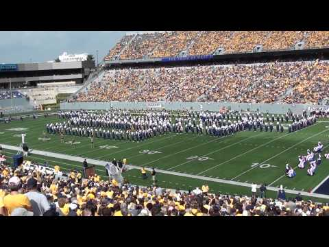 WVU Marching Band Halftime Show 09/10/2011
