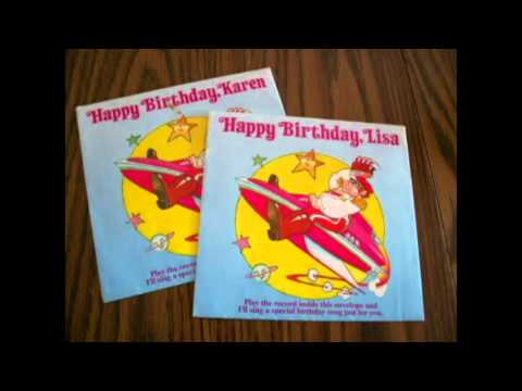 """Captain Zoom Sings, """"Hey, Eric, It's Your Birthday!"""" January 30, When I turned five years old my Grandma and Grandpa mailed me a personalized birthday song."""