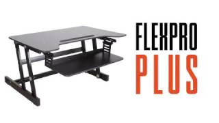 "FlexPro Plus 31"" Sit Stand Standing Desk by Stand Steady"
