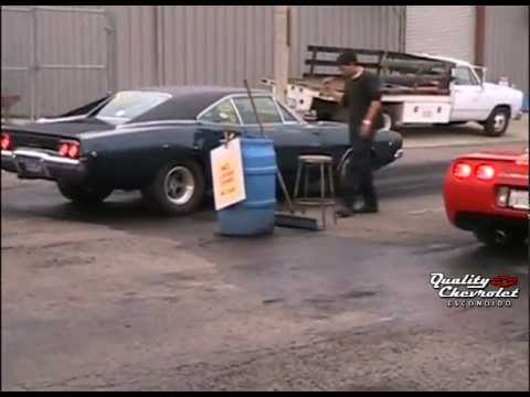 1968 Dodge Charger Vs 1999 Chevrolet Corvette Drag Racing Racelegal