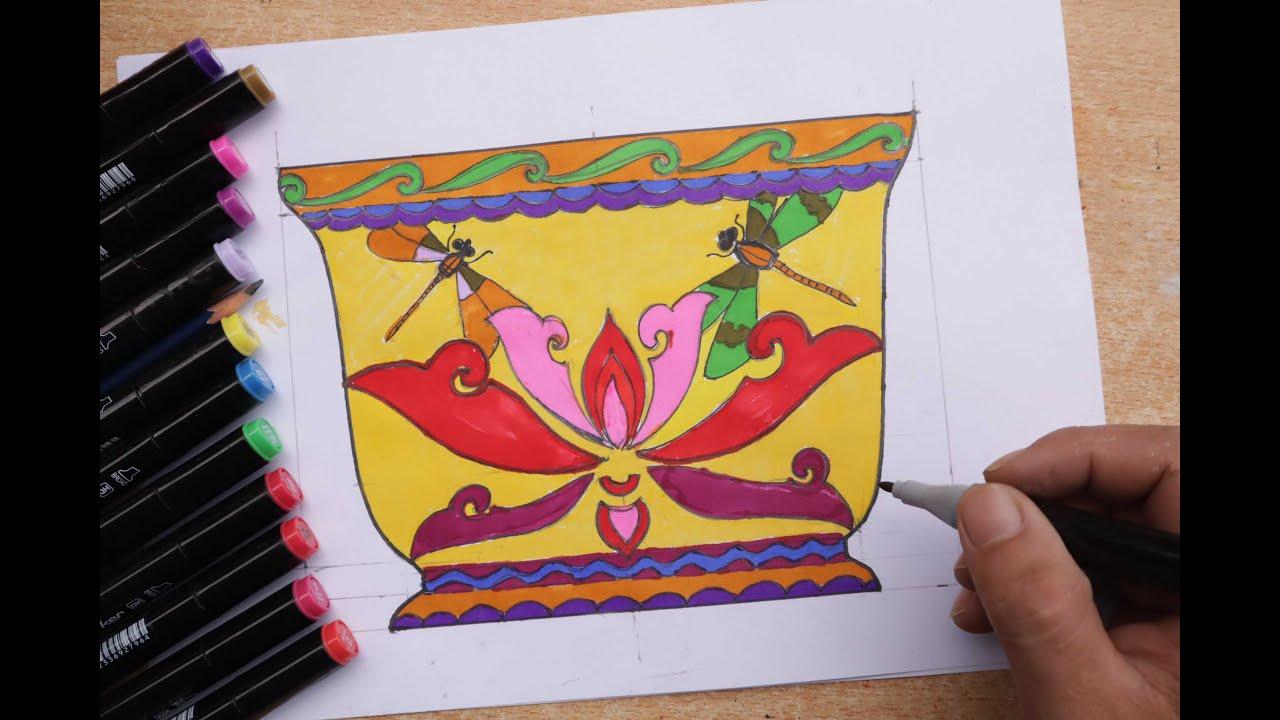 Mĩ thuật 8 bài 4 | Tạo Dáng Và Trang Trí Chậu Cảnh | Các bước trang trí Chậu Cảnh | Center ART