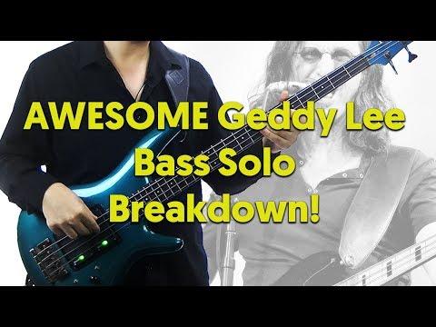 AWESOME Geddy Lee Bass Solo Breakdown! - La Villa Strangiato