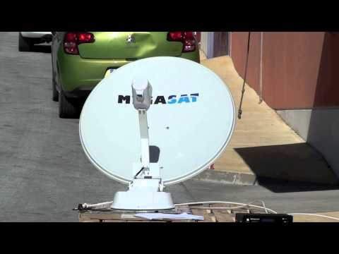 Antena Parabólica Motorizada para caravanas Megasat