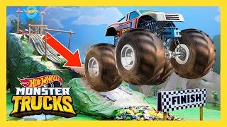 MONSTER TRUCК БЕСПОРЯДОК НА ГОРНОЙ ГОНКЕ | Monster Trucks: 1 серия | @Hot Wheels Россия 3+