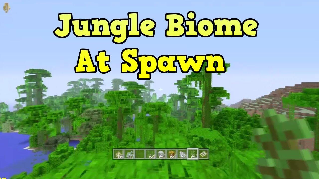"""Minecraft Xbox 10 Jungle Seed"" TU10) Jungle At Spawn"