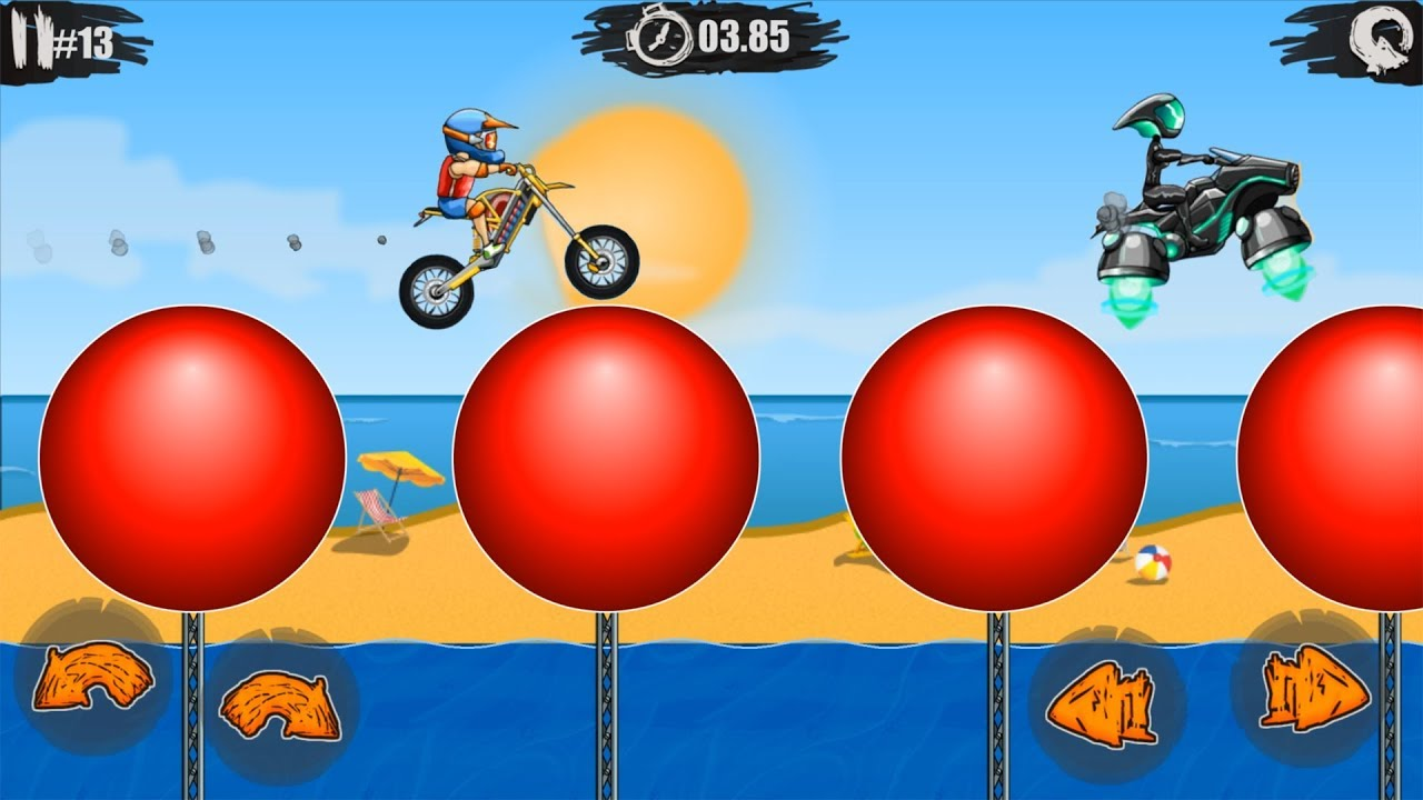 Moto X3M Bike Race Game - New Pool Party All Levels 1-15