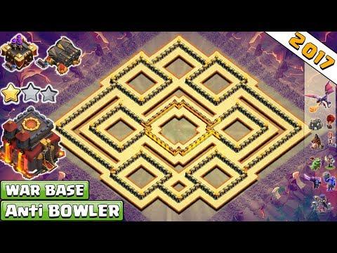 Best Town Hall 10 (Th10) Clan-War Base 2017 | Anti Valkyrie, Anti Bowler, Anti 2 Star-Clash Of Clans